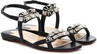 Christian Louboutin Galerietta embellished leather sandals