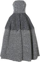 Christian Siriano striped ball gown - women - Cotton/Acrylic/Polyamide/Wool - 10