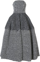 Christian Siriano striped ball gown - women - Cotton/Acrylic/Polyamide/Wool - 6