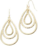Liz Claiborne Gold-Tone Layered Teardrop Drop Earrings