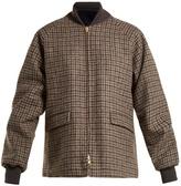 Chimala Reversible checked wool bomber jacket