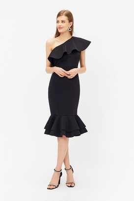 Coast Ruffle One Shoulder Dress