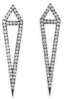 Eva Fehren Black Gold Diamond Dagger Stud Earrings
