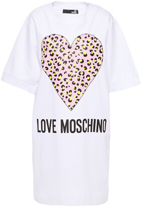 Love Moschino Printed Cotton-jersey Mini Dress
