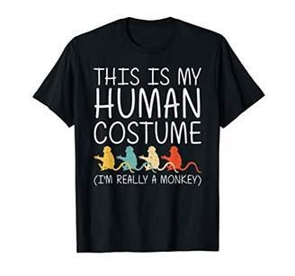Monkey Halloween Human Costume Primate Baboon Easy DIY Gift T-Shirt