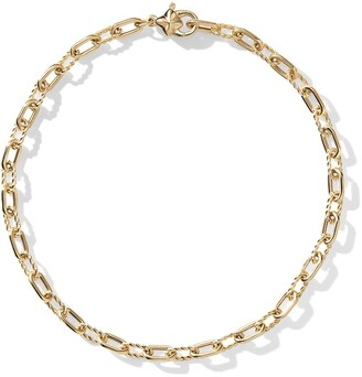David Yurman 18kt yellow gold DY Madison thin 3mm bracelet