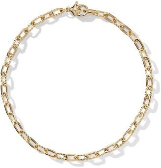 David Yurman 18kt yellow gold DY Madison thin 3mm bracelet