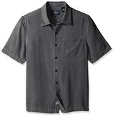 Nat Nast Men's Solid Traditional Fit Silk Blend Short Sleeve Shirt