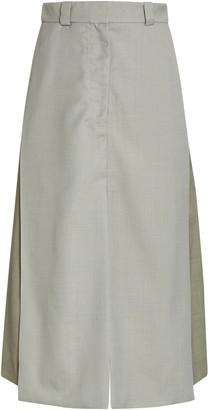 Eftychia Two-Tone Twill Skirt