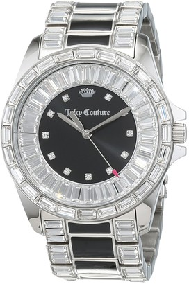 Juicy Couture Laguna Women's Quartz Watch with Black Dial Analogue Display and Black Stainless Steel Bracelet 1901350