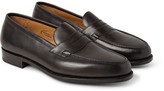 Edward Green Duke Leather Penny Loafers - Black