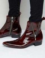 Jeffery West Adam Ant Leather Zip Boots