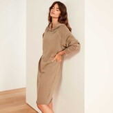 Thumbnail for your product : James Perse French Terry Hooded Raglan Dress