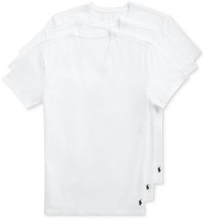 Polo Ralph Lauren Men's 3-Pk. Slim-Fit Stretch V-Neck Undershirts