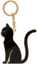 Thom Browne Black Thom Cat Keychain