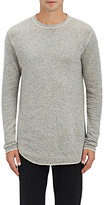 Nlst Men's Heathered Knit Sweatshirt-Light Grey Size Xs