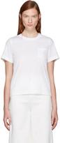 Sacai White Classic Shirting Pleated Shirt