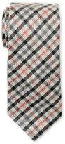Ike Behar Plaid Wool Tie