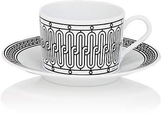 Hermes H Déco Teacup & Saucer - Black
