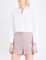 Sandro Mandarin collar cotton-poplin shirt