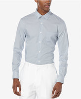Perry Ellis Men's Dobby Square Long-Sleeve Shirt