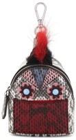 Fendi 'Monster' Genuine Snakeskin with Genuine Fox Fur Trim Bag Charm