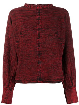 Rachel Comey Distressed Style Back Buttoned Blouse
