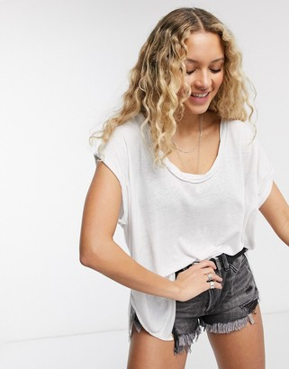 Free People under the sun t-shirt in white