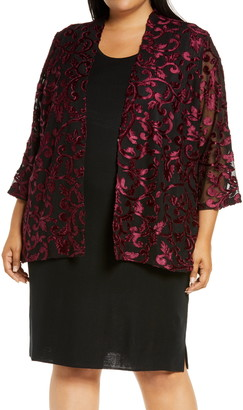 Ming Wang Three Quarter Sleeve Jacket