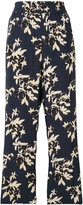 Ganni embroidered floral trousers