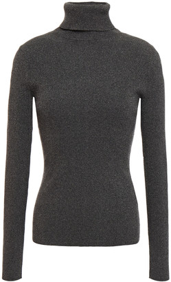 3.1 Phillip Lim Metallic Stretch-knit Turtleneck Sweater