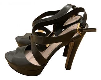 Miu Miu Grey Patent leather Sandals