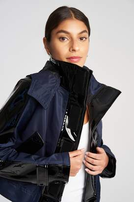 Caalo Gloss Cropped Hooded Raincoat