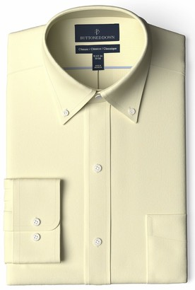 Buttoned Down Amazon Brand Men's Classic Fit Button Collar Solid Non-Iron Dress Shirt w/ Pocket Options