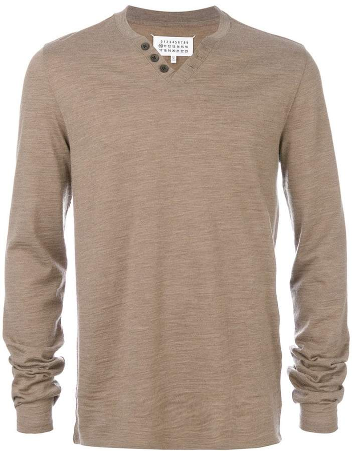 Maison Margiela knitted henley top