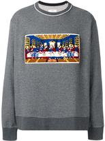 Facetasm Last Supper patch sweatshirt - men - Cotton/Acrylic - One Size