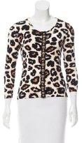 Blumarine Embellished Leopard Print Cardigan