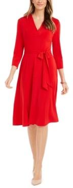 Charter Club 3/4-Sleeve Midi Dress, Created for Macy's