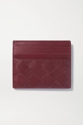 Bottega Veneta Intrecciato Leather Cardholder - Burgundy