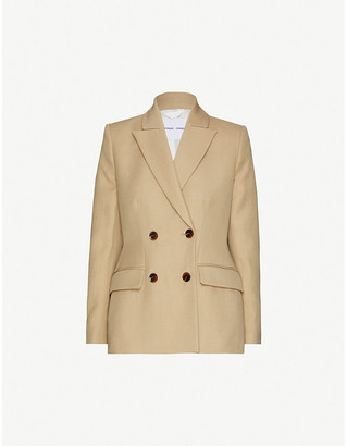 Samsoe & Samsoe Miroux double-breasted cotton and linen-blend blazer