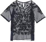 Just Cavalli Embroidered Tulle Top