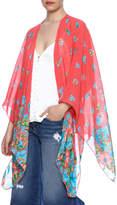 Red Lolly Multicolor Kimono