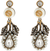 Gucci Pearl-effect embellished flower earrings