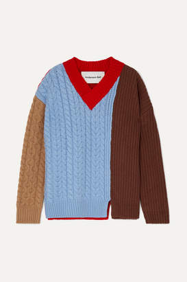 Andersson Bell - Oversized Color-block Wool-blend Sweater - Blue