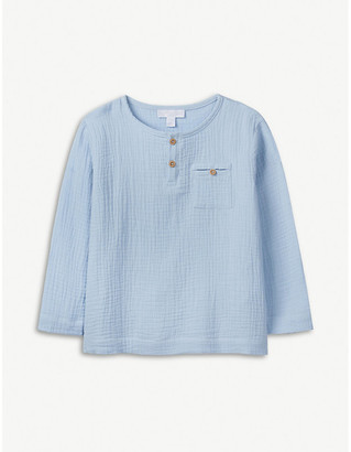 The Little White Company Crinkled cotton top 1-6 years
