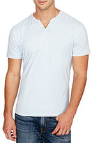 Lucky Brand Short-Sleeve 2 Button Notch Pullover