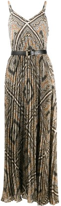 MICHAEL Michael Kors Geometric-Print Pleated Dress