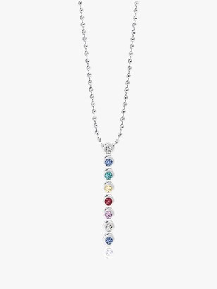 Sif Jakobs Jewellery Cubic Zirconia Round Beaded Chain Pendant Necklace