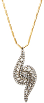 Elizabeth Cole Brewer Crystal Pendant Necklace
