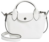 Longchamp Mini Le Pliage Cuir Leather Top Handle Bag